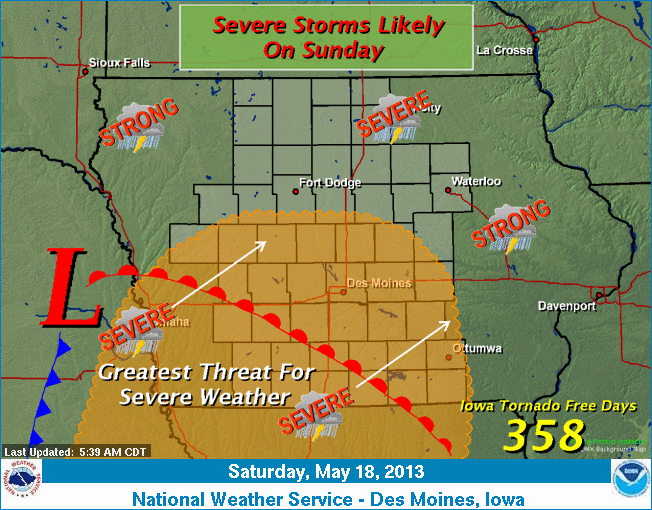 Weather For Sunday : Still a good chance for severe weather on sunday « kjan