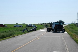Accident scene. Photo courtesy Brian Hamman, Montgomery Co. EMA
