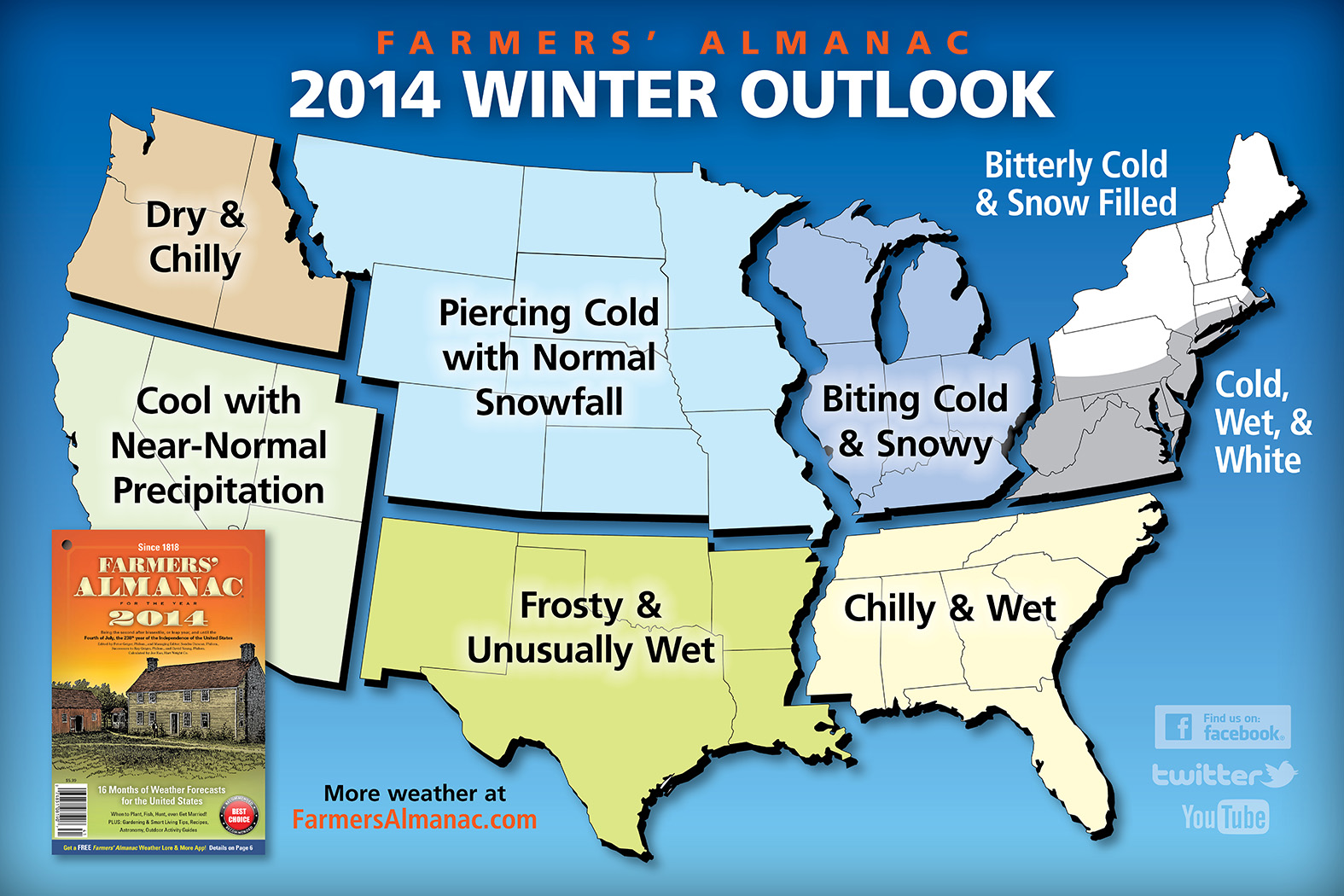 "Farmers' Almanac predicts ""piercing cold"" winter for Iowa"