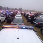 This photo of the law enforcement presence at the funeral is courtesy I80 K9/Cass Co. Deputy Kyle Quist