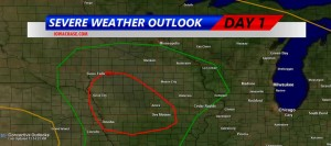 Iowa Storm Chasing Network graphic of Tornadic/Severe Storm threat.