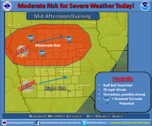 (Graphic) - NWS Severe Weather potential.