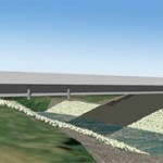Artists rendition of the new Hwy 92 bridge prior to its construction. (IA DOT photo)