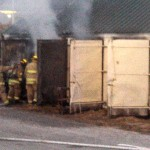 Storage Shed fire in Atlantic (11/2/13) - Ric Hanson photo.
