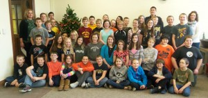 6th graders who participated in the benefit reading program. (Atl. P-D photo)
