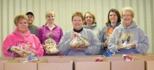 Volunteers with the Adair-Casey Food Pantry.
