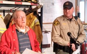 Corning Fire Chief/EMA Mgr. Donnie Willett (Left) & Adams County Sheriff Alan Johannes.