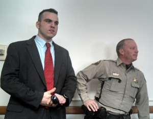 Tyler Shiels (on the left) and Cass County Sheriff Darby McLaren.