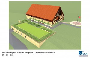 Artist's rendition of the Curatorial Center's Green Roof.