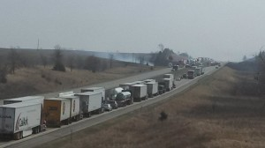 I-80 looking eastbound from 710th St. in Cass Co.