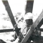 Harkin working to reconstruct the Danish Windmill in the 1970's.