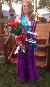 Hailey Gross, 2014 Adair County Fair Queen.