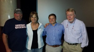 Nate Allen (Center) and Mike Boettcher (right) are pictured with Darrin and Melanie Petty.