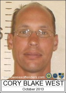 Cory West (photo from IA Sex Offender Registry)