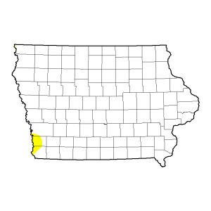 Iowa Drought map