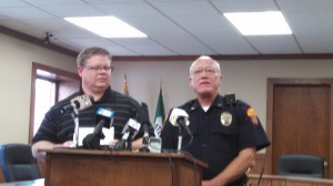 Cass Co. Atty. Dan Feistner (Left) & Atlantic Police Chief Steve Green.