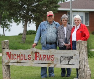 Nichols Farms of Bridgewater, owned by (from left) Dave and Phyllis Nichols and Lillian Nichols.