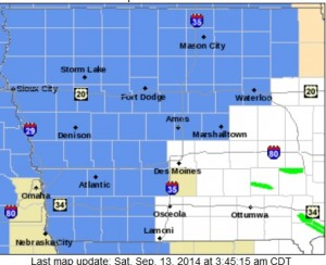 Areas in light blue are included in a FROST ADVISORY Saturday morning