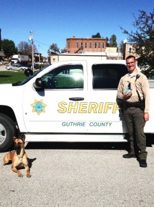 """Guthrie County Sheriff's Deputy Kent Gries and his K9 partner """"Rage."""""""