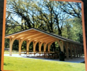 Snapshot of the proposal shelter for the Kiddie Korral at Sunnyside Park.