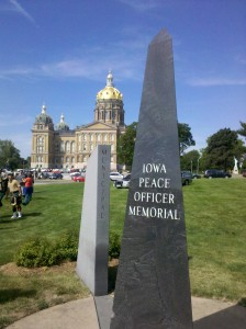 Iowa Peace Officer Memorial, in Des Moines.