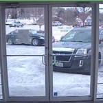 The suspect's getaway vehicle.