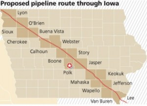 Pipeline map from the Des Moines Register, July 2014