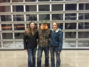 Left to Right Emily Saeugling, Clint Hansen, Haley Carlson