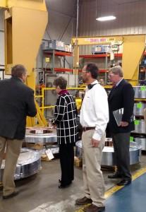 Sen. Joni Ernst (R-IA) tours the Mahle Engine Components plant in Atlantic. (Ric Hanson, photo)