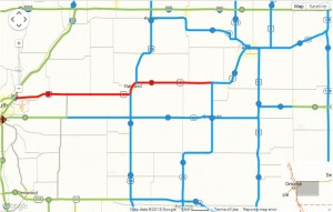 511ia.org IA DOT road conditions map (as of 5:58-a.m. Tue., 2/3/15)