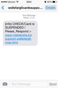 This is the message many people have received via text. DO NOT click on or access the fake website.