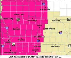 Red Flag Warning for all of southwest & western Iowa Sunday afternoon and evening