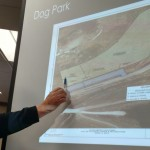Atlantic Parks & Rec Director Roger Herring talks about the Schildberg Rec Area Dog Park site plan. (Ric Hanson/photo)