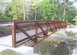 This is what the pedestrian bridge over Troublesome Creek will look like when it is installed.