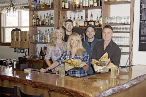 The Cider House staff are (from left) Hopi James, Skylar Messer, Annalisa Thompson, Cole Fishback, and Clint Stephenson.