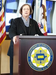 Iowa Department of Public Safety Commissioner Roxann Ryan