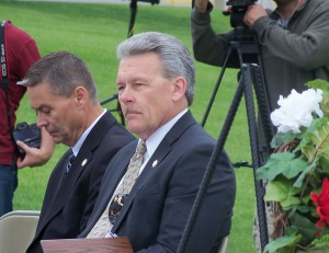 Pottawattamie County Sheriff Jeff Danker attended the Peace Officer Memorial Ceremony, Friday