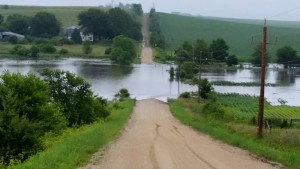 This is the Middle River, east of Casey this morning. (Photo from Adair-Guthrie County EMA)
