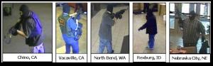 Previous AK-47 Bandit robberies (from AK47bandit.com)