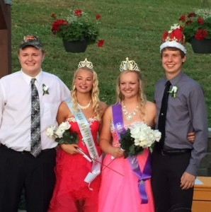 (Left to right) Blake Miller,Emily McDermott, Alyssa Dean, Tyler Steele (Jim Field Photo)