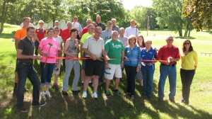 Atlantic Ambassadors and others at the Sunnyside Park Activities Area ribbon cutting. (Ric Hanson/photo)