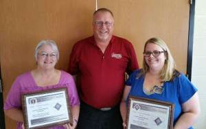 From left to right are: Ginny Renslow - Chairman of the Guthrie County LEPC, Robert Kempf - Coordinator for the Adair and Guthrie County Emergency Management Agencies and Stephanie Claussen - Chairman of the Adair County LEPC (Photo courtesy Bob Kempf)