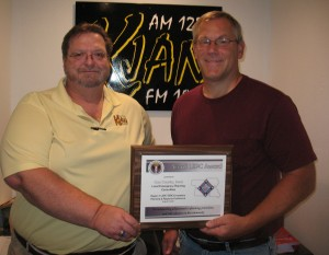 LEPC Chair Ric Hanson (Left) & Cass County Emergency Management Coordinator Mike Kennon (right).