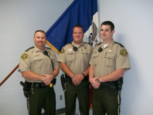 left to right: Rod Pavelka,Steven Henry, and Blake Michelsen. (Photo courtesy the Guthrie County S/O)