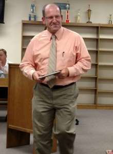 Phil Hascall just received a plaque for his years of Board service.