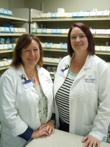 """CCMH Pharmacists Crystal Starlin, Pharm-D (left), and Sara Arnold, Pharm-D,  will present the October 22nd Healthy U session, """"Talk About Your Medicines."""""""