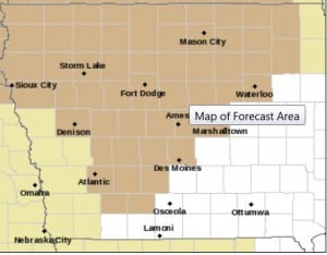 Wind Advisory in effect for counties in tan on this map.