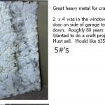 old crinkled metal