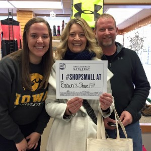 Chamber Board member Jenny Williams showing her Small Business support with husband Matt. Pictured Left to Right: Bailey Smith, Jenny Williams, Matt Williams