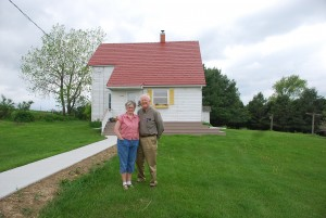 Sunny and Dale Nimrod on their farm near Decorah.